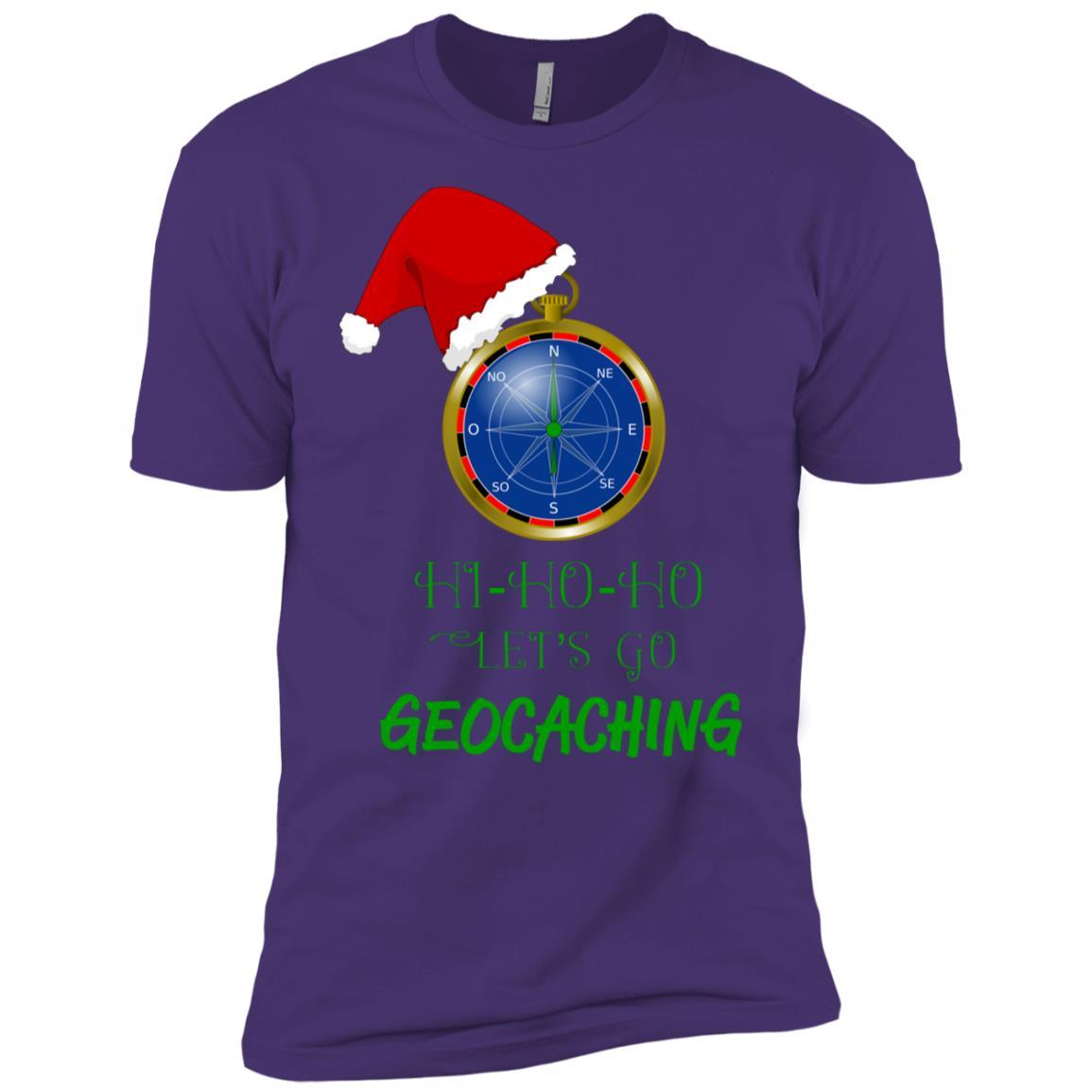 Let's Go Geocaching Treasure Hunt Christmas Fun-1 Men Short Sleeve T-Shirt