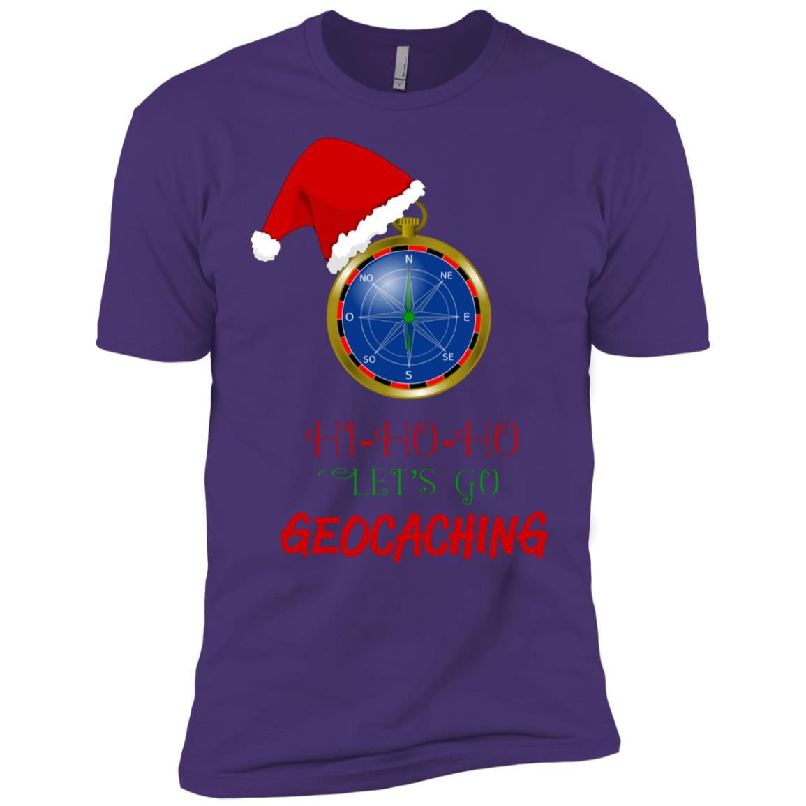 Let's Go Geocaching Treasure Hunt Christmas Fun Men Short Sleeve T-Shirt