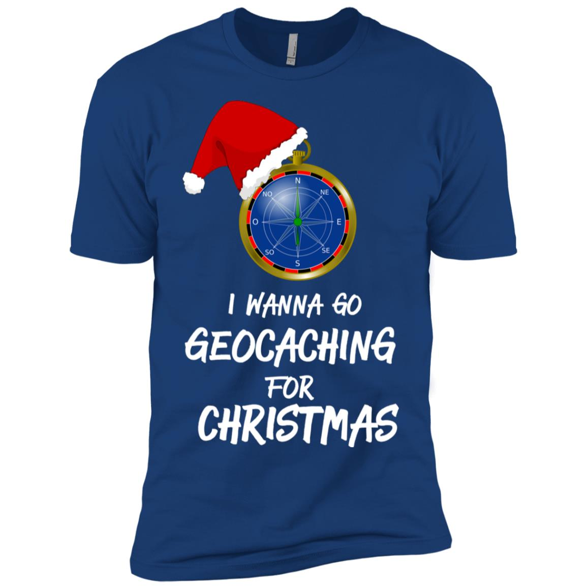 I Wanna Go Geocaching For Christmas Treasure Hunt Fun Men Short Sleeve T-Shirt