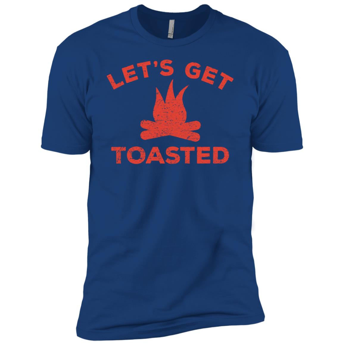 Camping Let's Get Toasted Funny Camping Gifts Men Short Sleeve T-Shirt