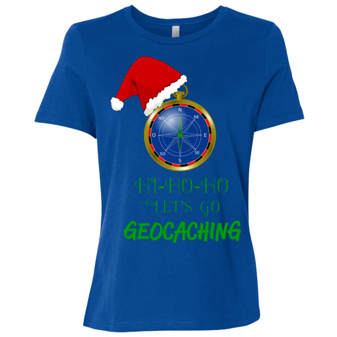 Let's Go Geocaching Treasure Hunt Christmas Fun-1 Women Short Sleeve T-Shirt