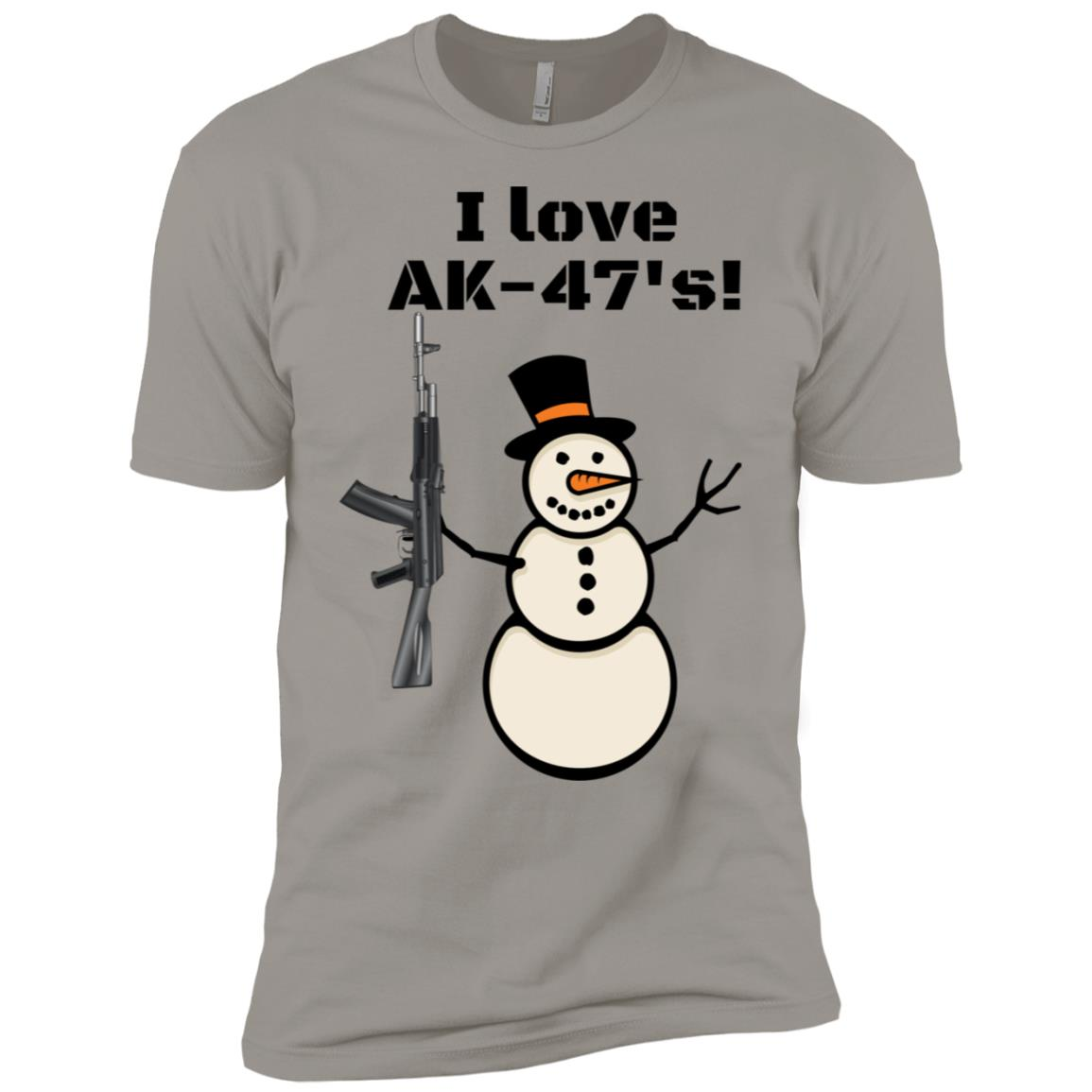 I Love AK-47's! Hunting Semi-Automatic Shooting Gun Men Short Sleeve T-Shirt