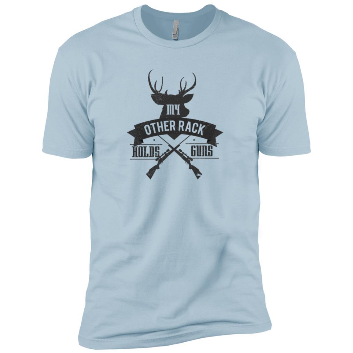 Gun Rack Funny Deer Buck Hunter Rifle Men Short Sleeve T-Shirt