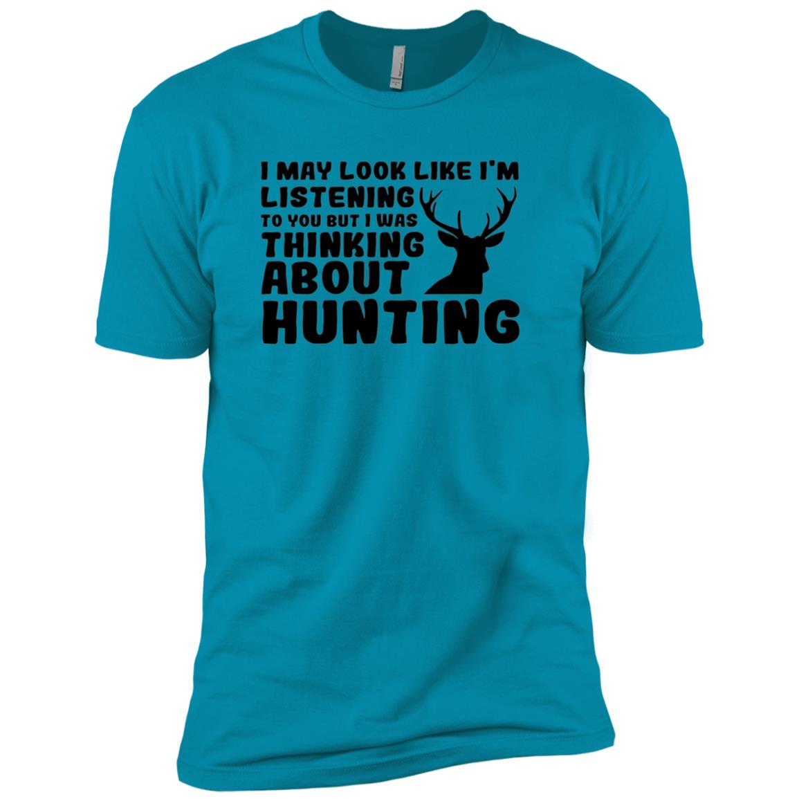 Funny Thinking About Hunting Tee for Men Men Short Sleeve T-Shirt