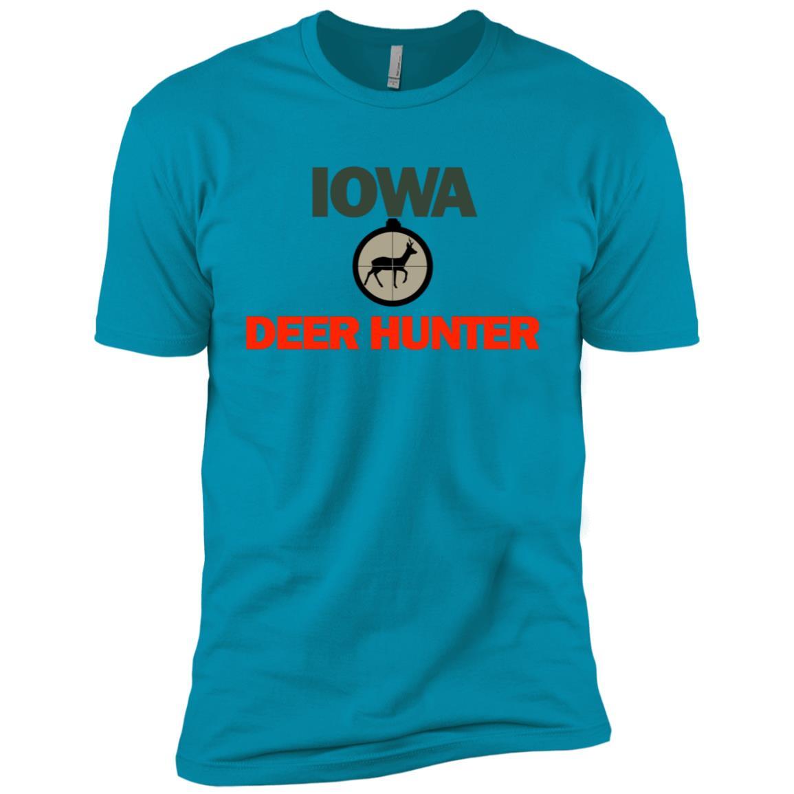 Cool Iowa Deer Hunter for Those Who Love t Men Short Sleeve T-Shirt