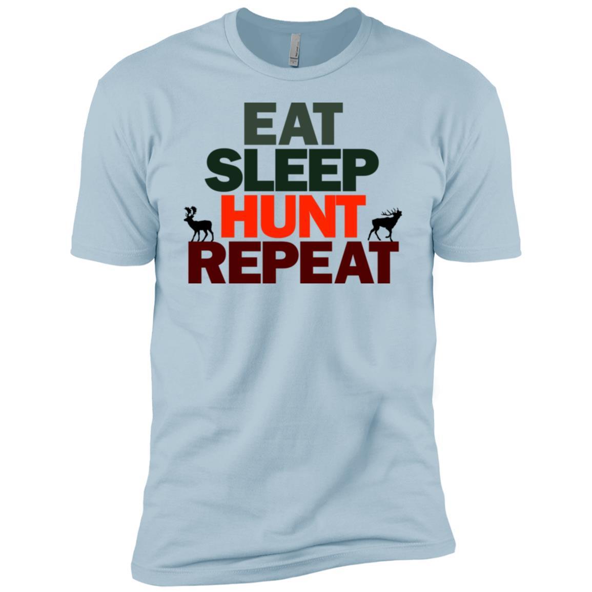 Cool Hunters Eat Sleep Hunt Repeat Men Short Sleeve T-Shirt