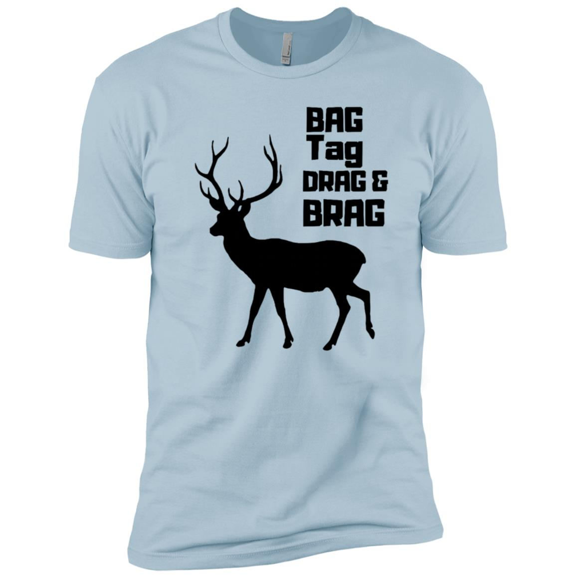 Bag Tag Drag And Brag Deer Hunter T Men Short Sleeve T-Shirt