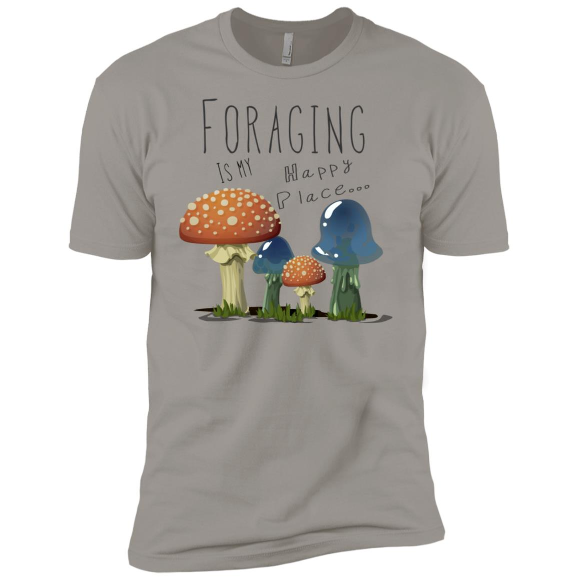 foraging designs mycology art foraging is my happy place Men Short Sleeve T-Shirt