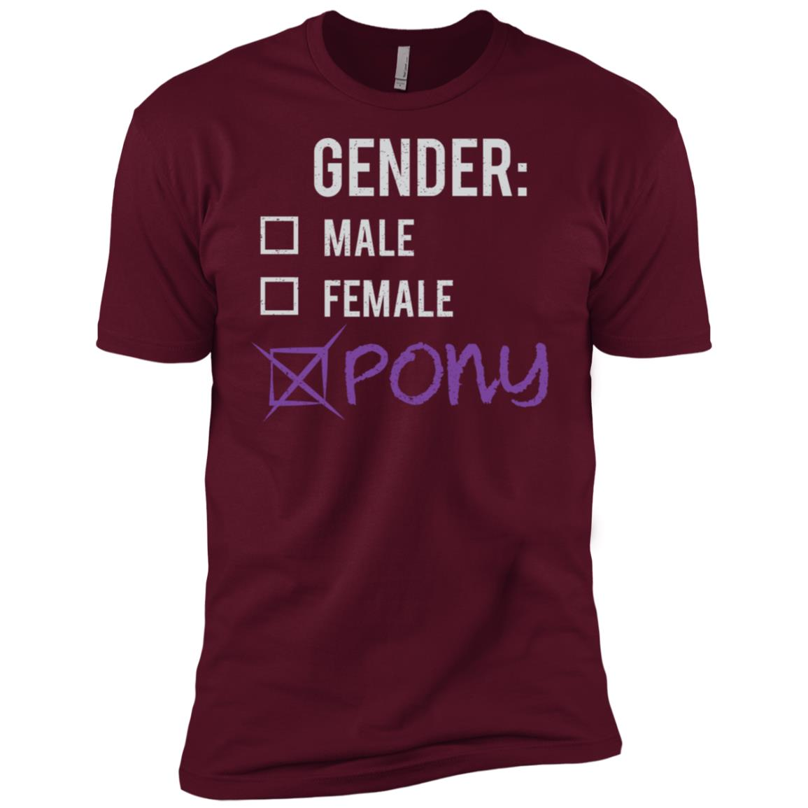 Male Female Pony Gender Nonbinary Trans Men Short Sleeve T-Shirt