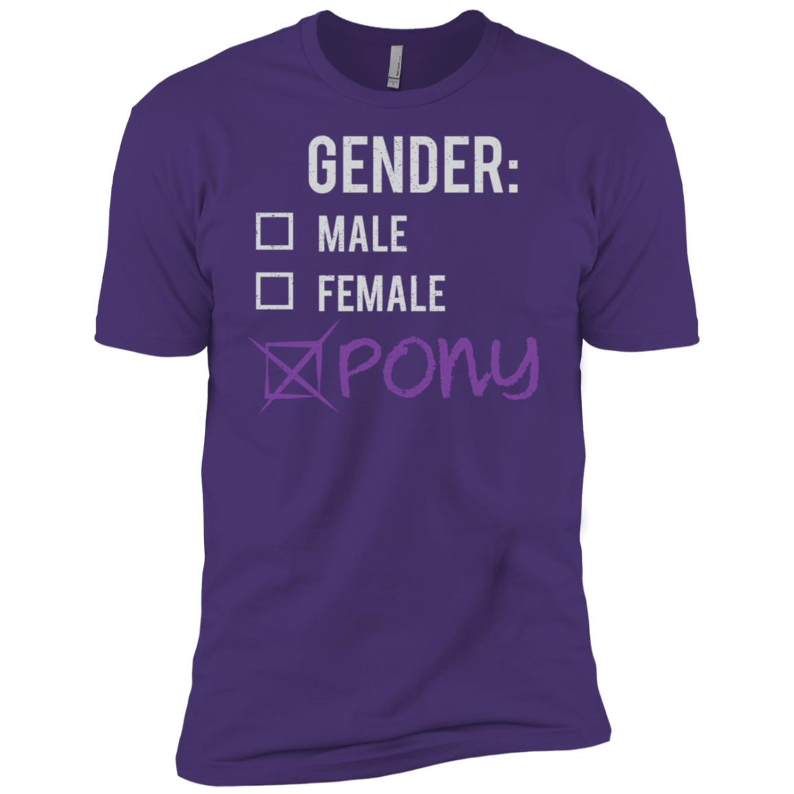 Male Female Pony Gender Nonbinary Trans Men Short Sleeve T-Shirt