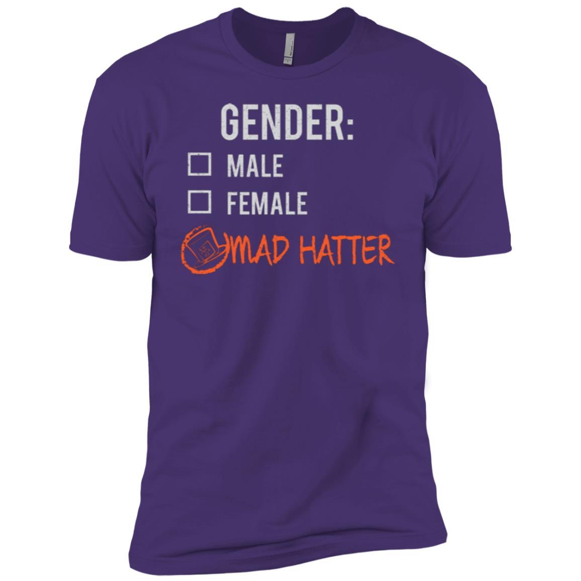 Male Female Mad Hatter Gender Nonbinary Trans Men Short Sleeve T-Shirt