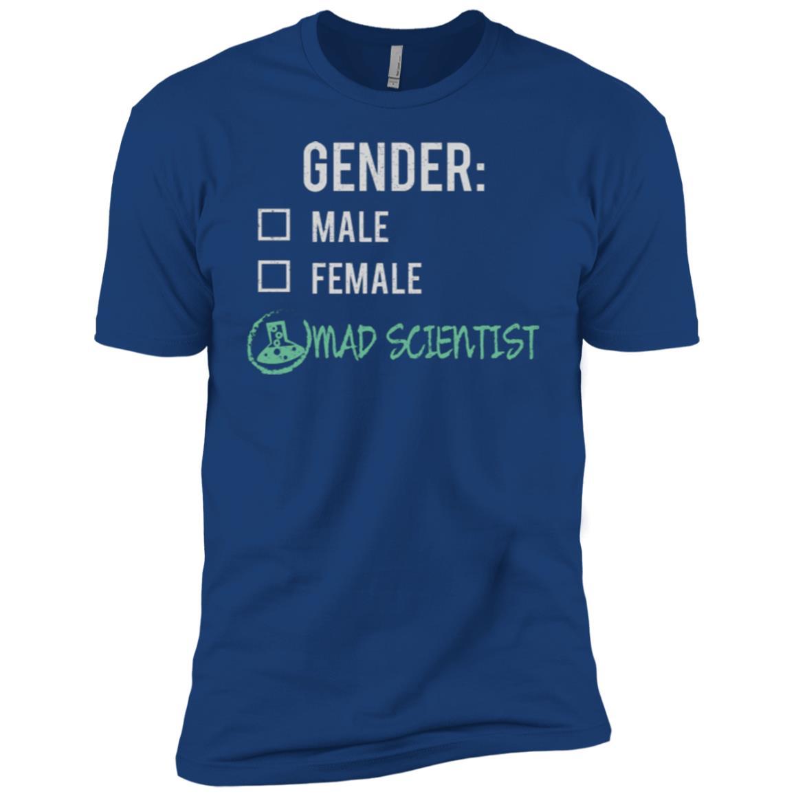 Male Female Mad Scientist Gender Nonbinary Trans Men Short Sleeve T-Shirt