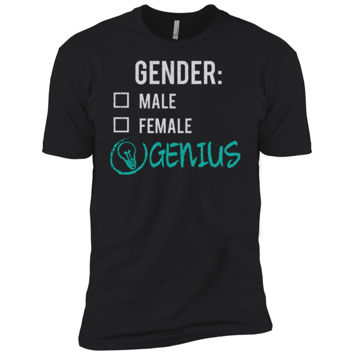 Male Female Genius Gender Nonbinary Trans Men Short Sleeve T-Shirt