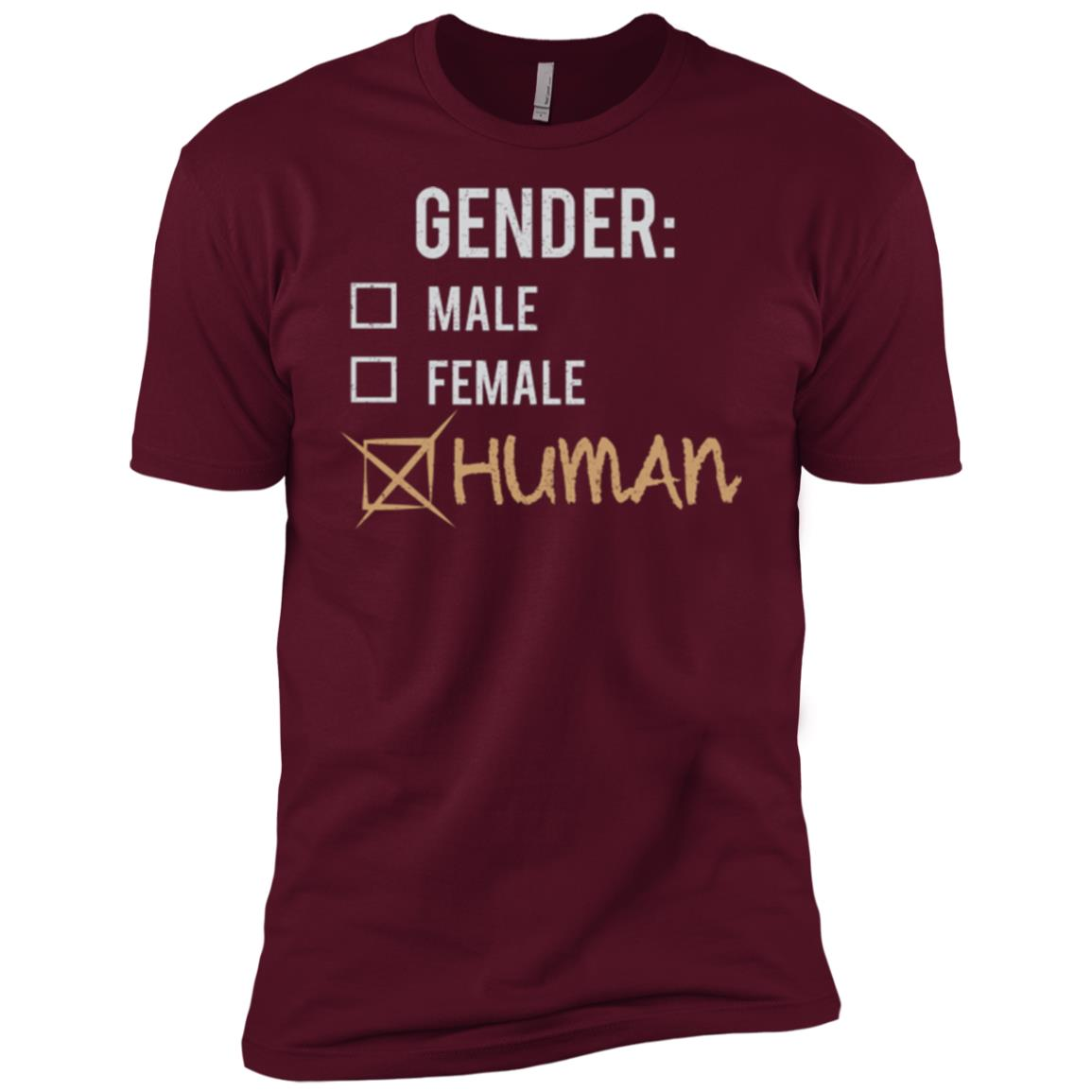 Male Female Human Gender Nonbinary Trans Men Short Sleeve T-Shirt