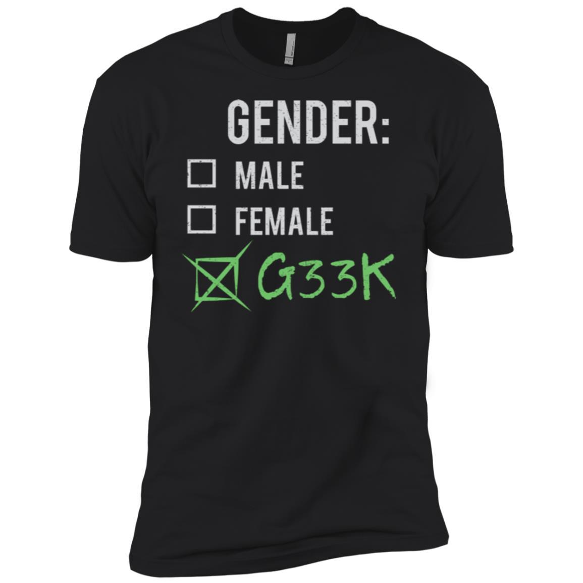 Male Female Geek Gender Nonbinary Trans Men Short Sleeve T-Shirt