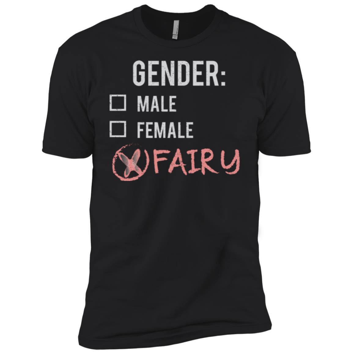 Male Female Fairy Gender Nonbinary Trans Men Short Sleeve T-Shirt