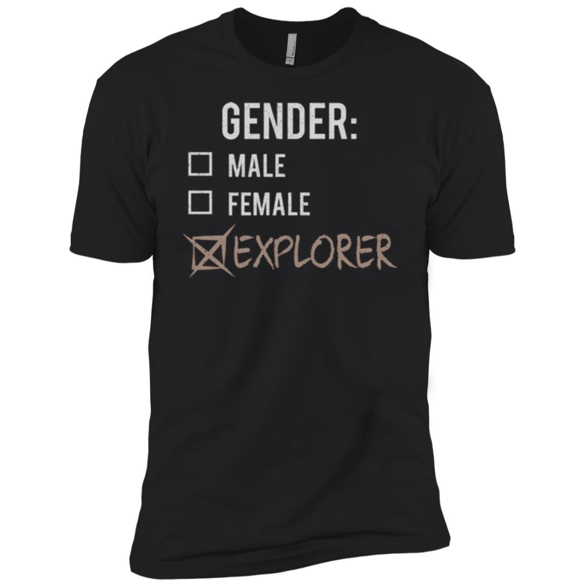 Male Female Explorer Gender Nonbinary Trans Men Short Sleeve T-Shirt