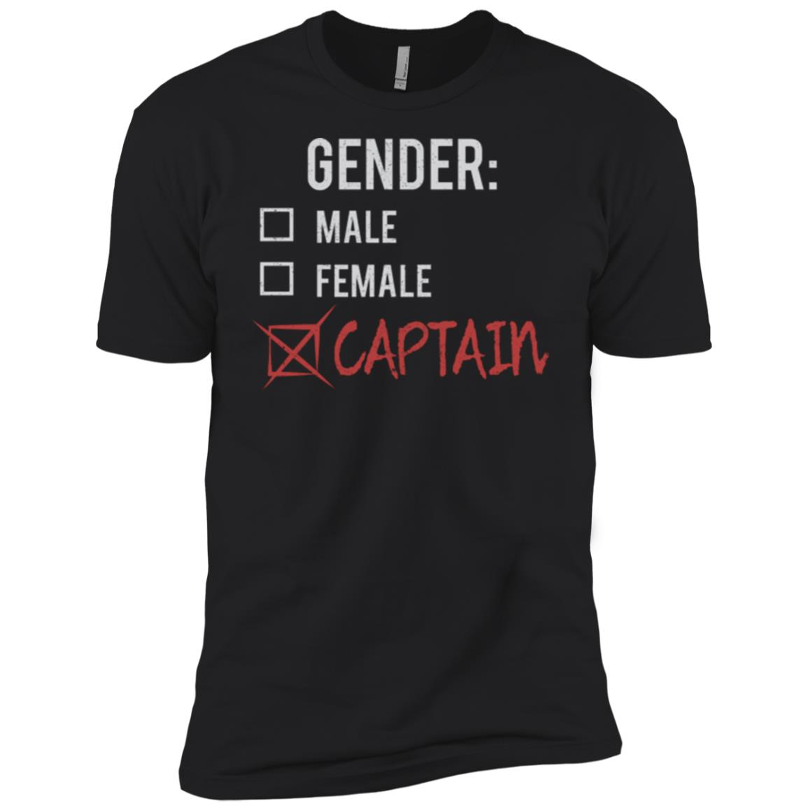 Male Female Captain Gender Nonbinary Trans Men Short Sleeve T-Shirt