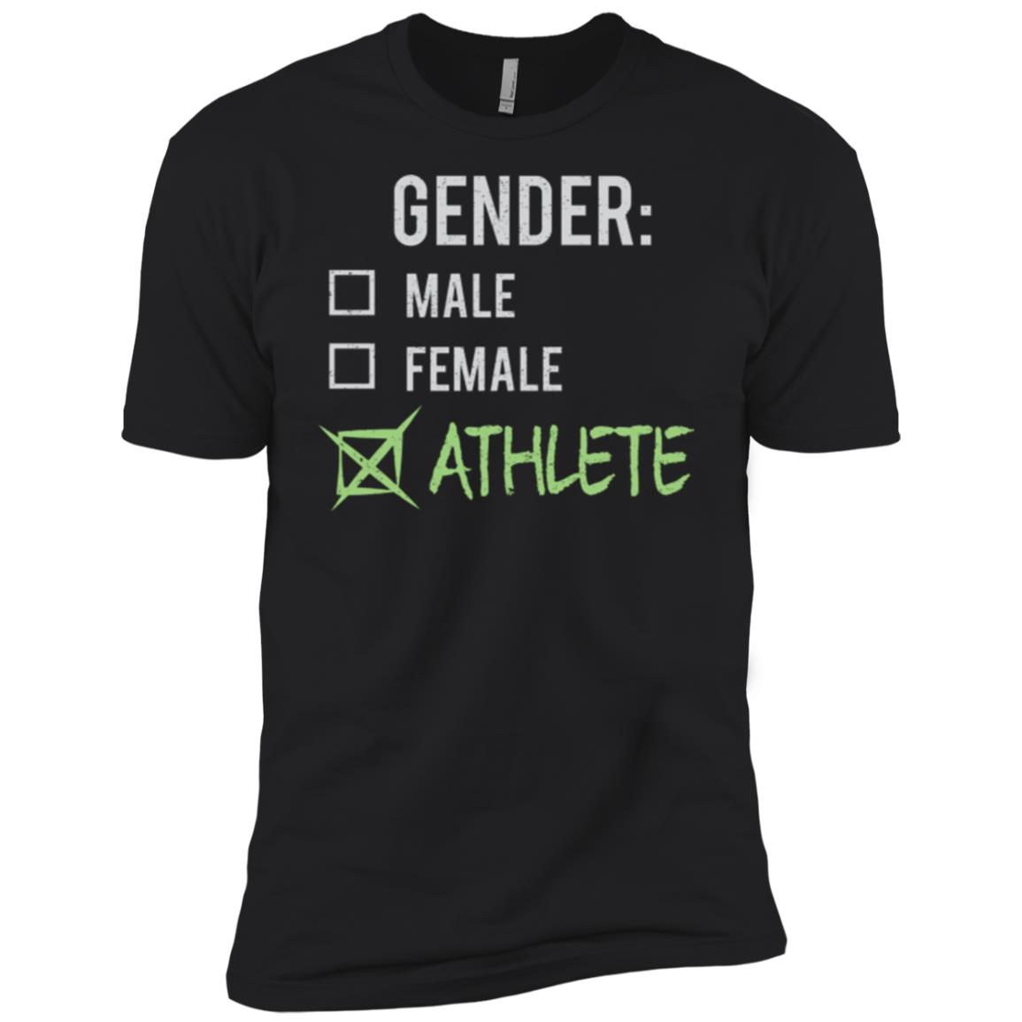 Male Female Athlete Gender Nonbinary Trans Men Short Sleeve T-Shirt