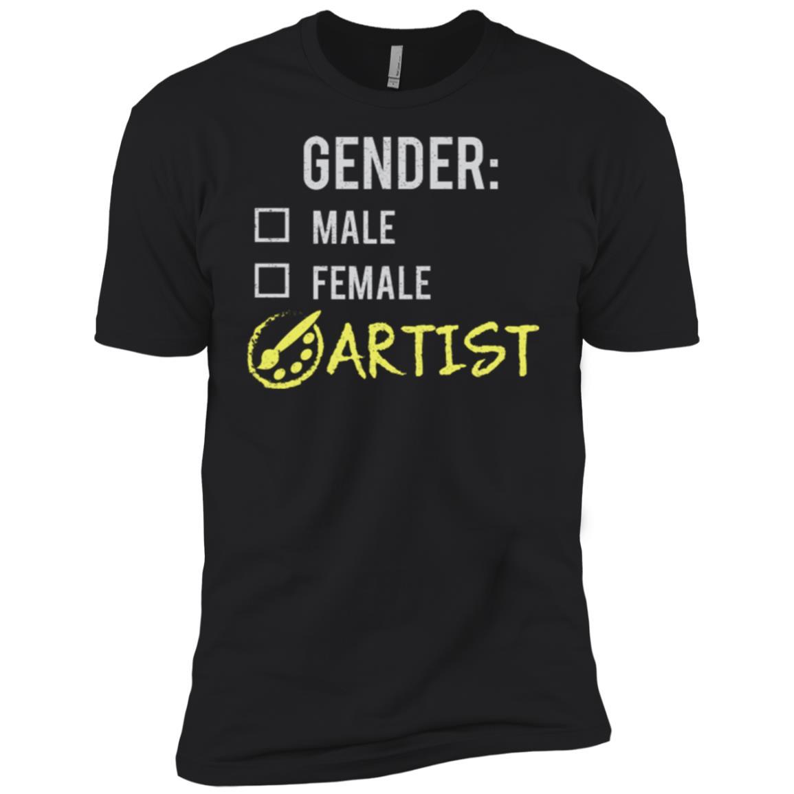 Male Female Artist Gender Nonbinary Trans Men Short Sleeve T-Shirt