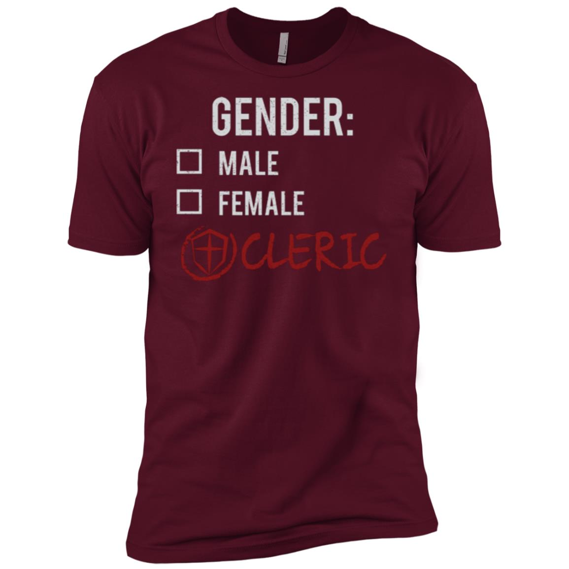 Male Female Cleric Gender Nonbinary Trans Men Short Sleeve T-Shirt
