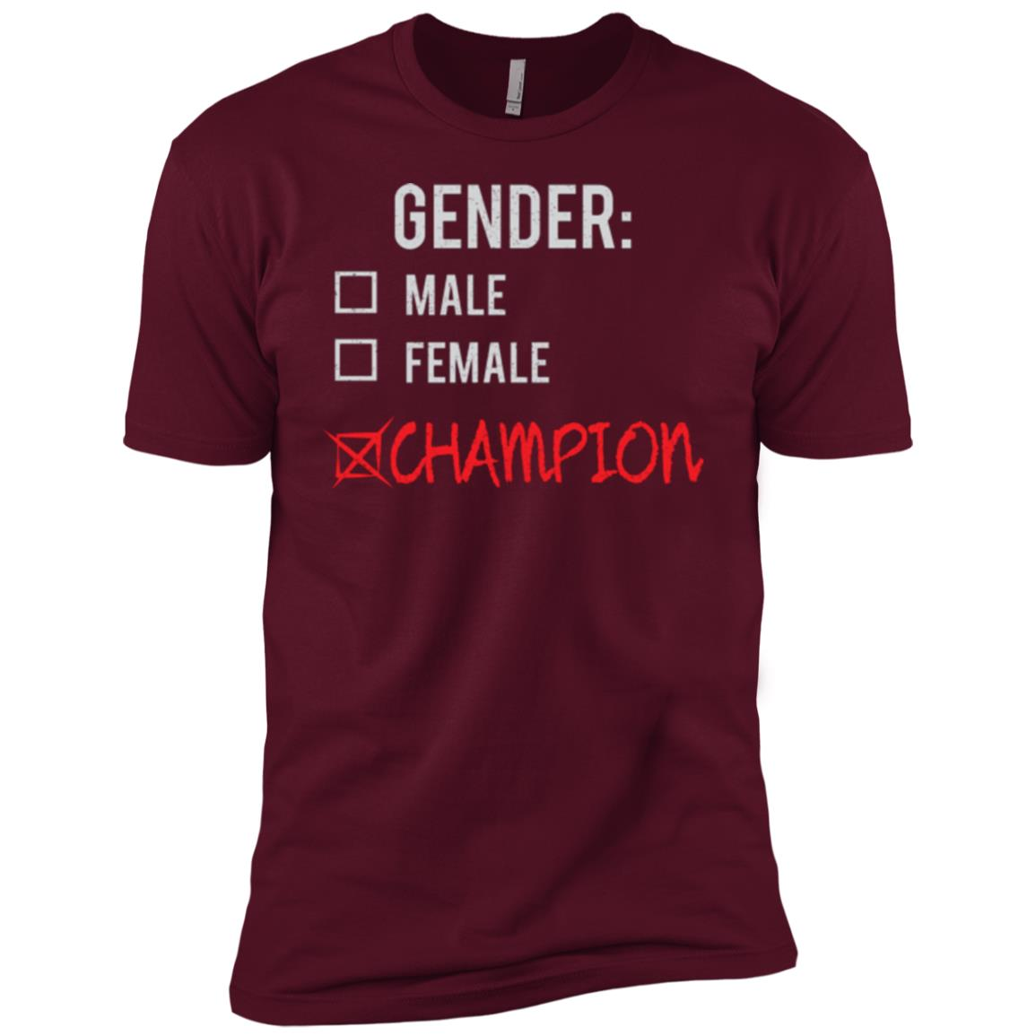 Male Female Champion Gender Nonbinary Trans Men Short Sleeve T-Shirt
