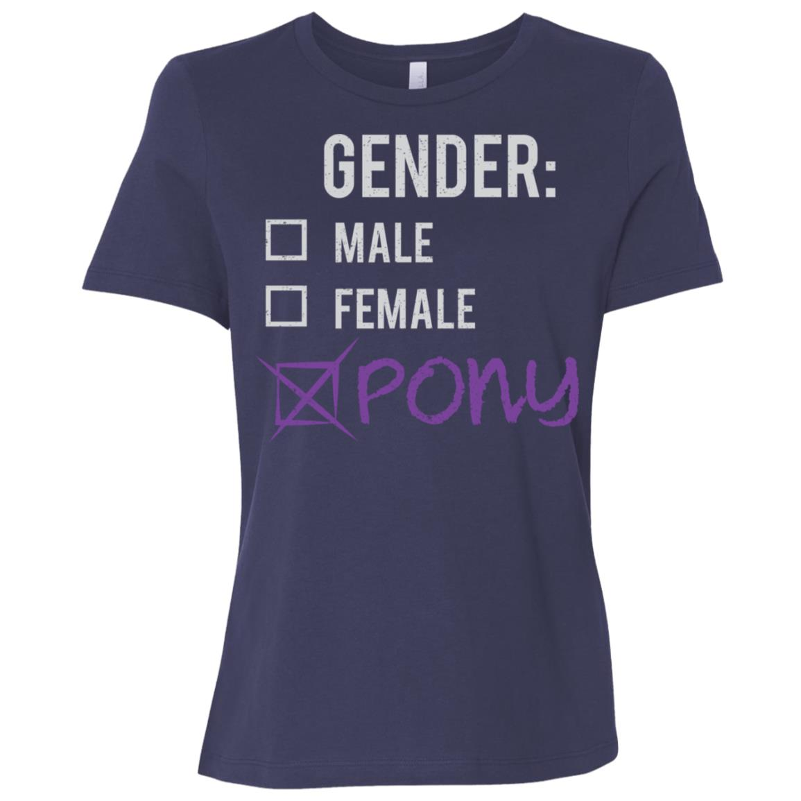 Male Female Pony Gender Nonbinary Trans Women Short Sleeve T-Shirt
