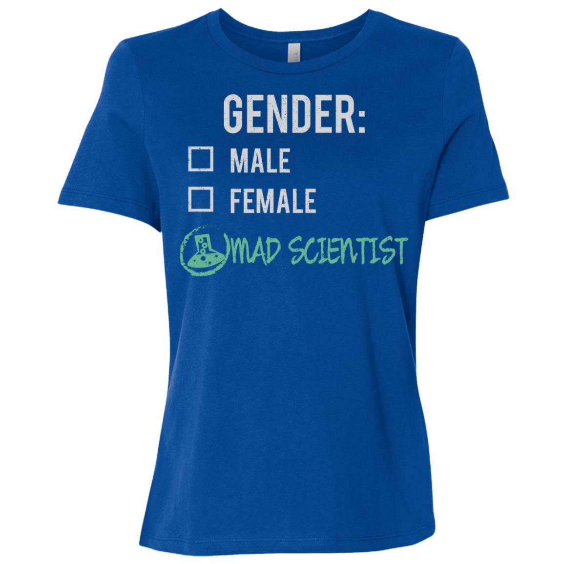 Male Female Mad Scientist Gender Nonbinary Trans Women Short Sleeve T-Shirt