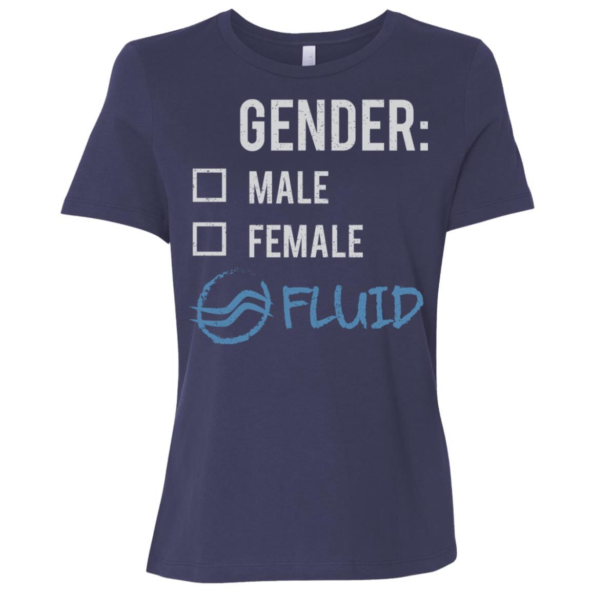 Male Female Fluid Gender Nonbinary Trans Women Short Sleeve T-Shirt