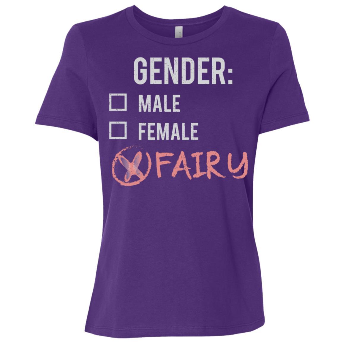 Male Female Fairy Gender Nonbinary Trans Women Short Sleeve T-Shirt