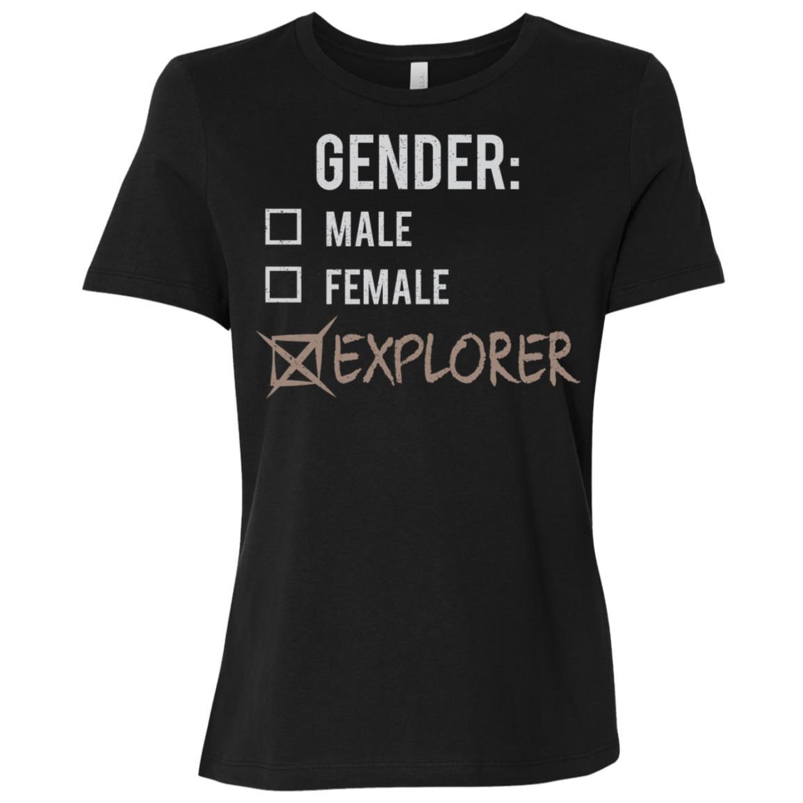Male Female Explorer Gender Nonbinary Trans Women Short Sleeve T-Shirt