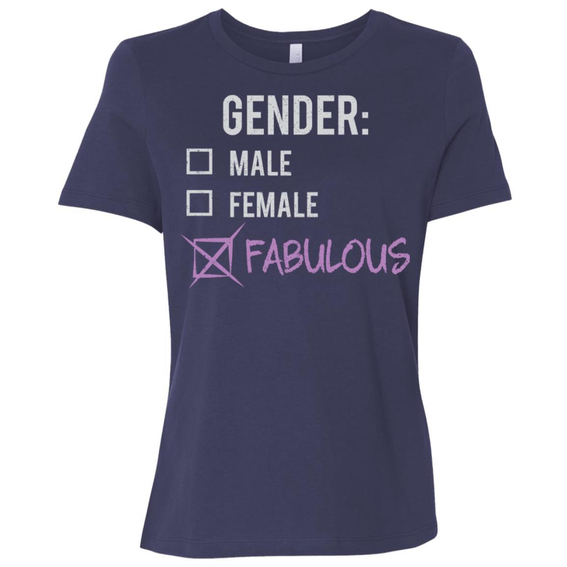 Male Female Fabulous Gender Nonbinary Trans Women Short Sleeve T-Shirt