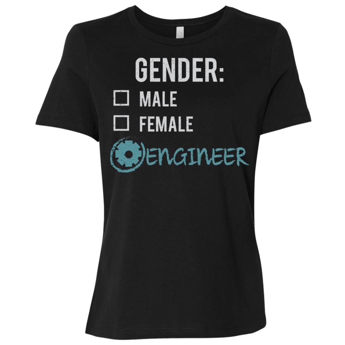 Male Female Engineer Gender Nonbinary Trans Women Short Sleeve T-Shirt