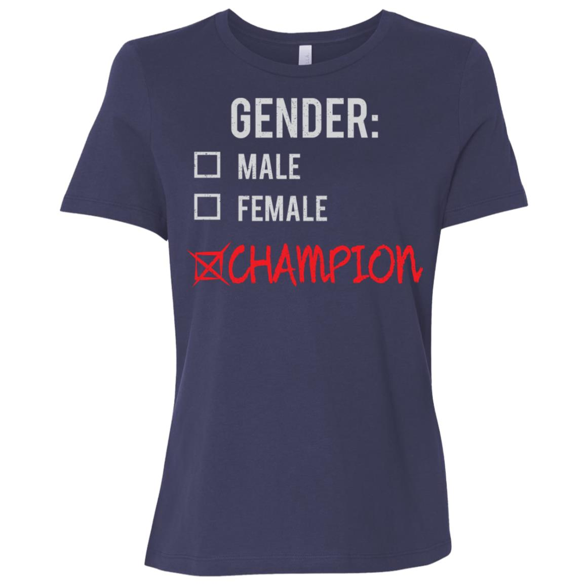 Male Female Champion Gender Nonbinary Trans Women Short Sleeve T-Shirt