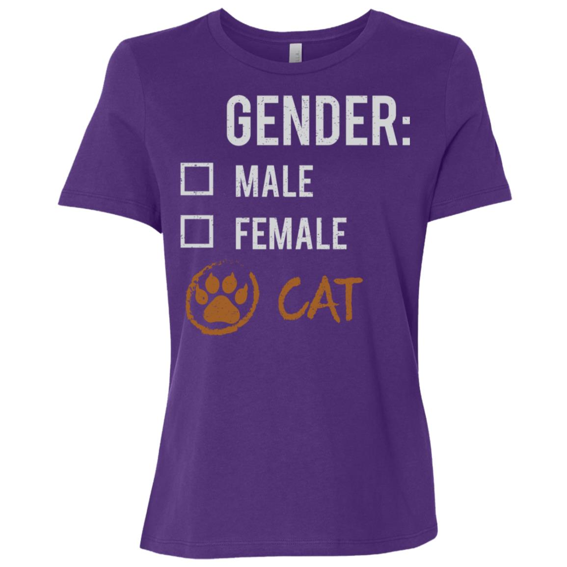 Male Female Cat Gender Nonbinary Trans Women Short Sleeve T-Shirt
