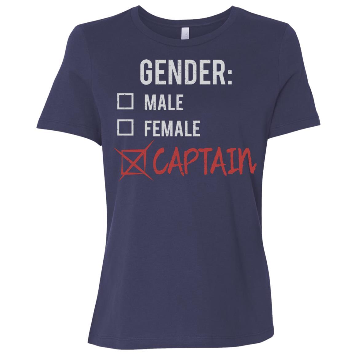 Male Female Captain Gender Nonbinary Trans Women Short Sleeve T-Shirt
