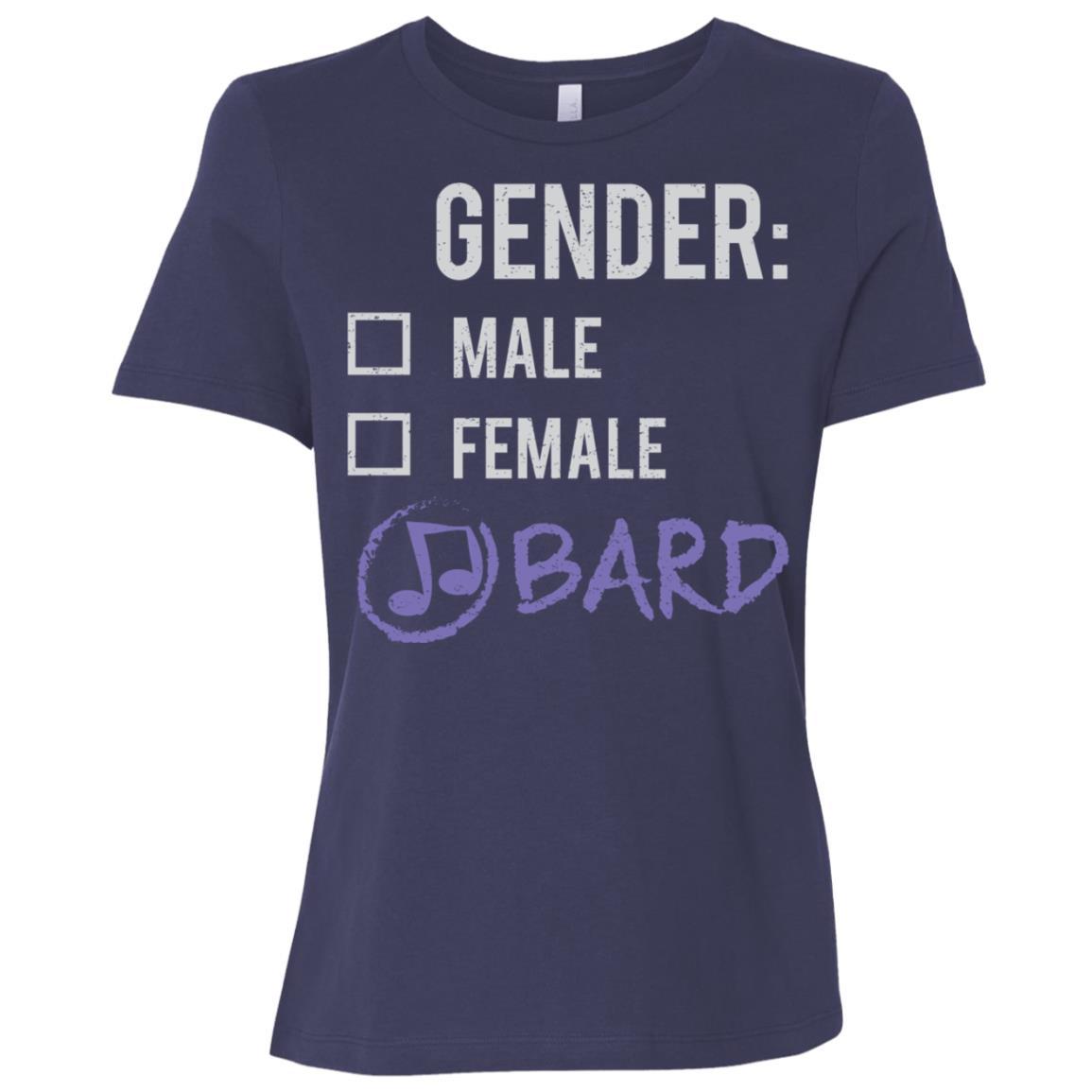 Male Female Bard Gender Nonbinary Trans Women Short Sleeve T-Shirt