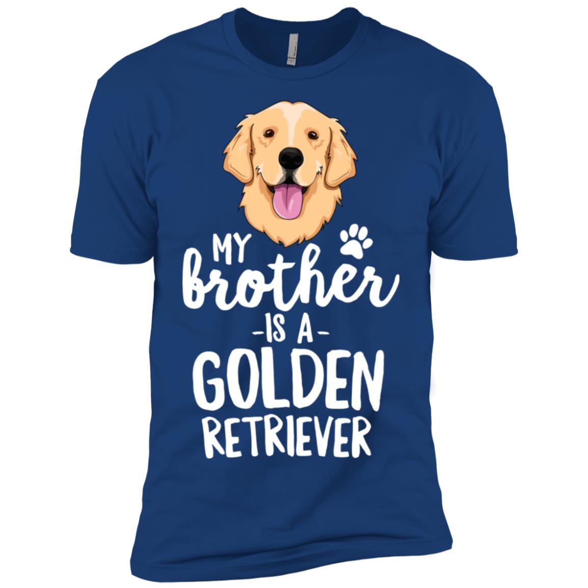 My Brother Is A Golden Retriever Dog Gift Men Short Sleeve T-Shirt