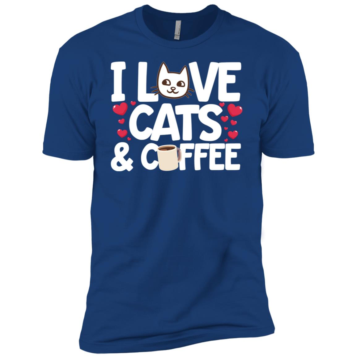 I Love Cats & Coffee Gift For Women Men Short Sleeve T-Shirt
