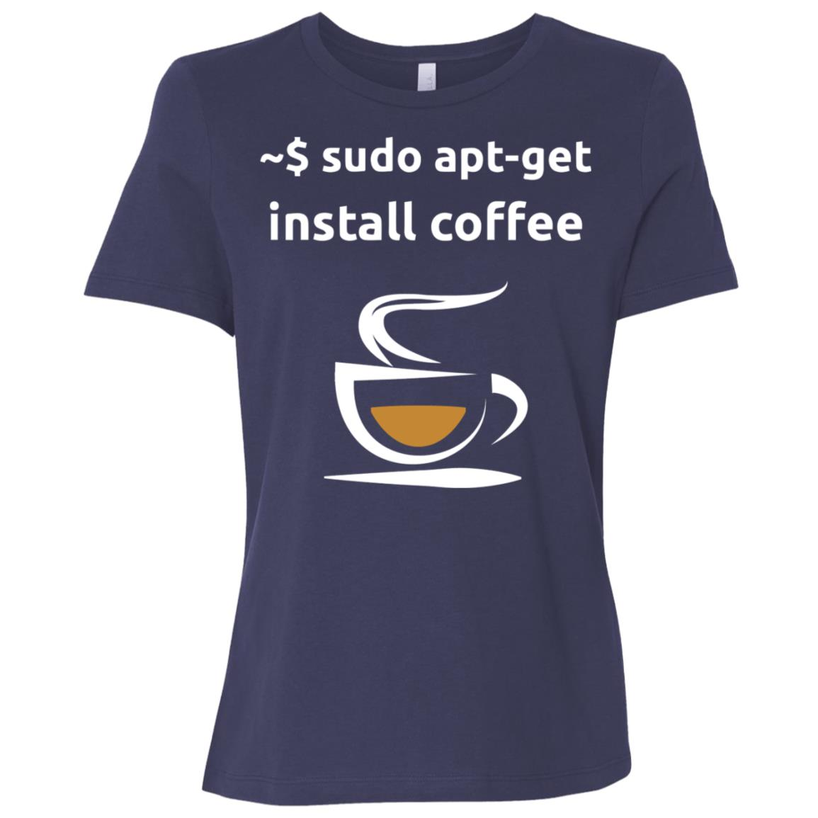 Linux Sudo Apt-Get Install Coffee , Geeks Gift -1 Women Short Sleeve T-Shirt