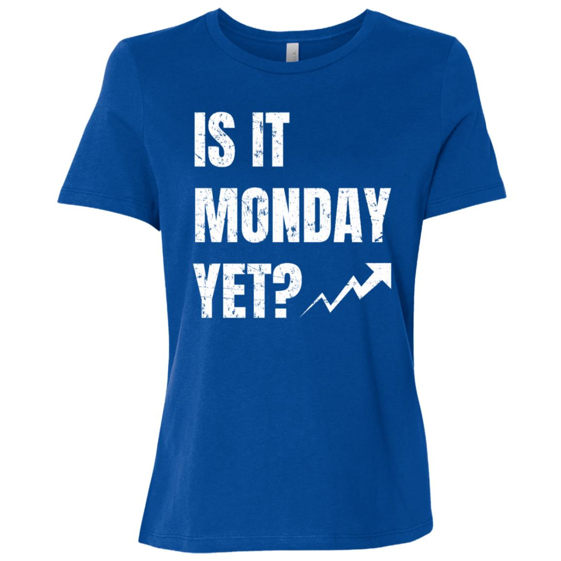 Is It Monday Yet Funny Stock Market Women Short Sleeve T-Shirt
