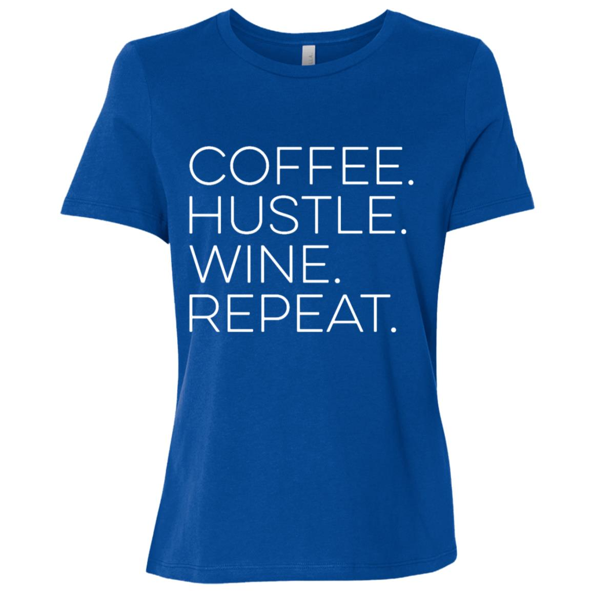 Entrepreneur Coffee. Hustle. Wine. Repeat Women Short Sleeve T-Shirt