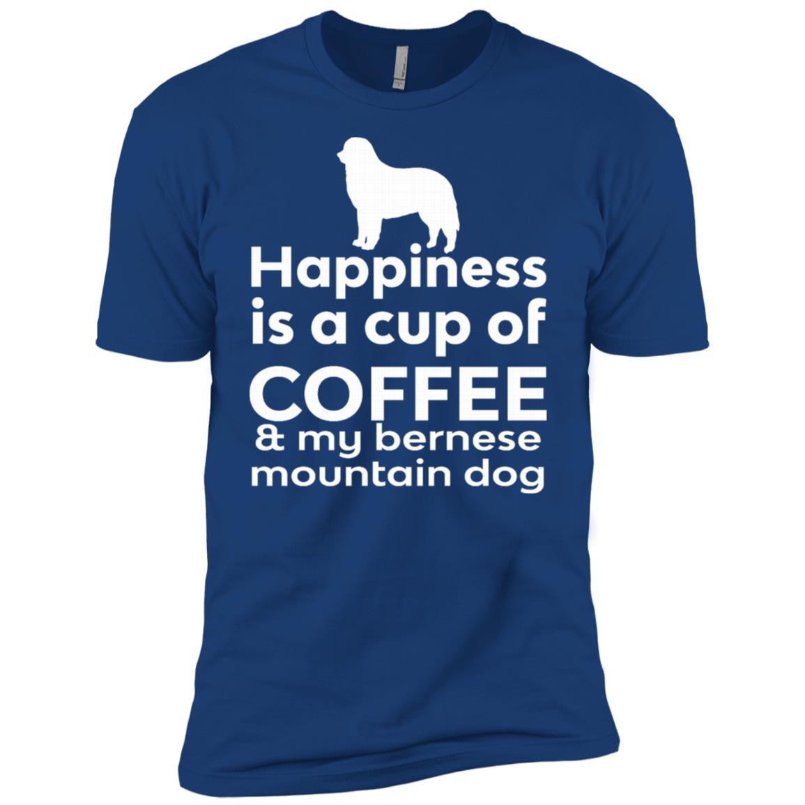 Happiness Coffee Bernese Mountain Dog Men Short Sleeve T-Shirt