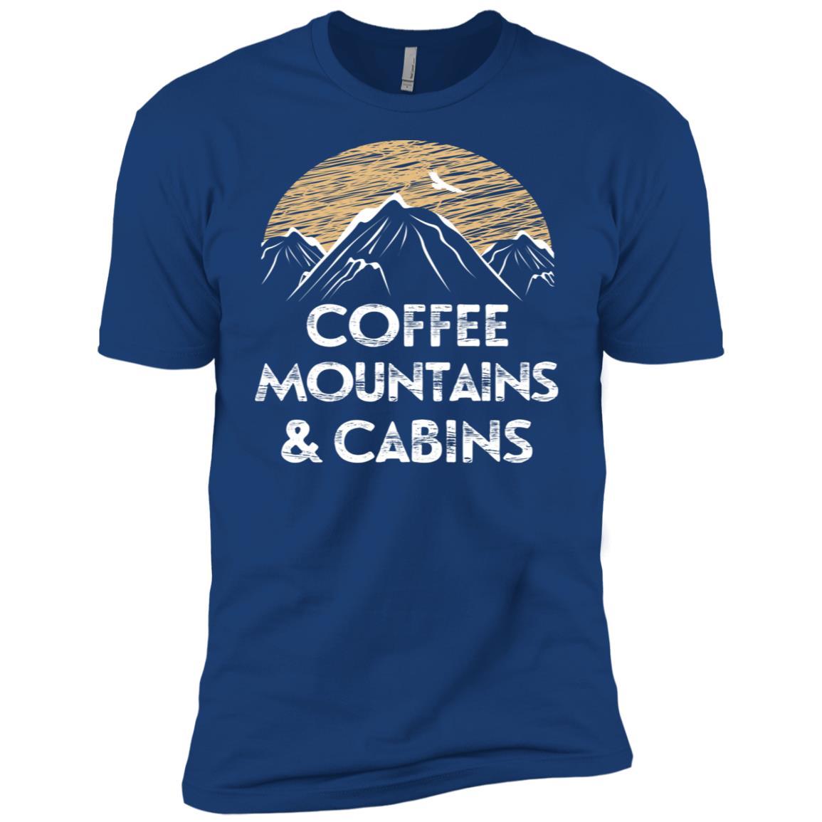 Coffee Mountains Cabins Men Short Sleeve T-Shirt
