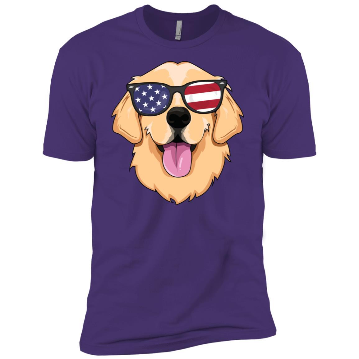 American Golden Retriever Men Dog Usa Men Short Sleeve T-Shirt