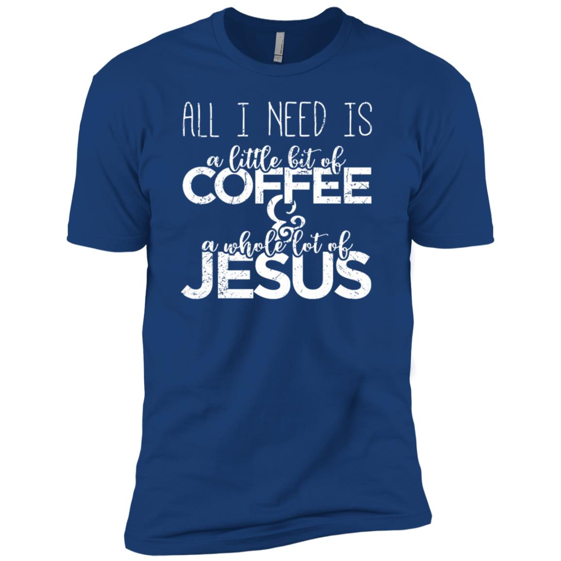 A Little Bit Of Coffee & A Whole Lot Of Jesus Sleeves Men Short Sleeve T-Shirt