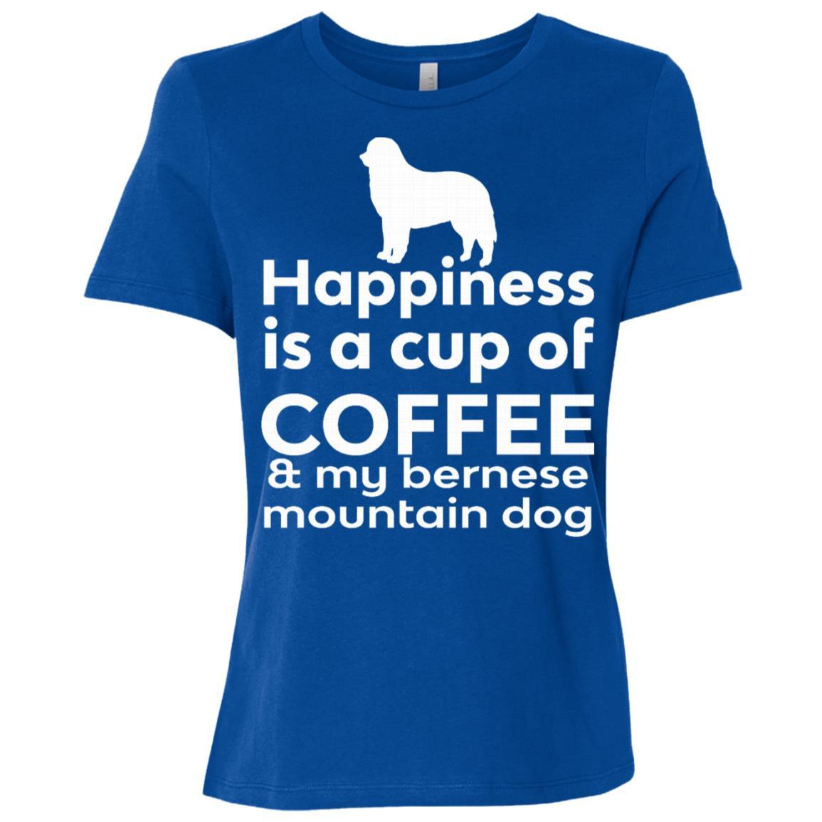 Happiness Coffee Bernese Mountain Dog Women Short Sleeve T-Shirt