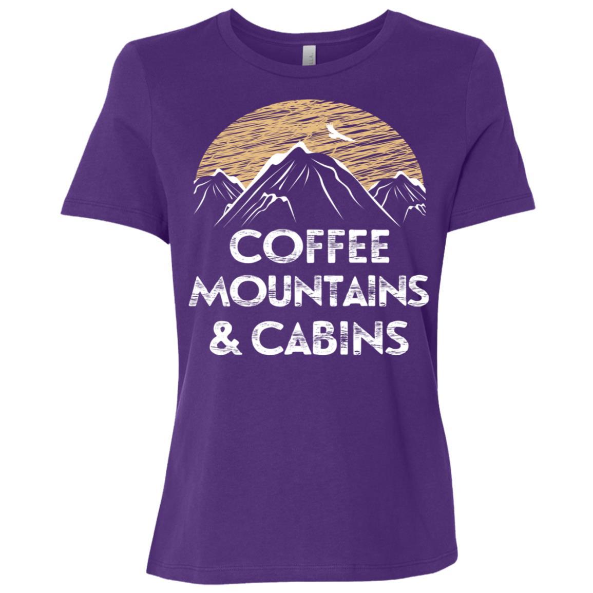 Coffee Mountains Cabins Women Short Sleeve T-Shirt