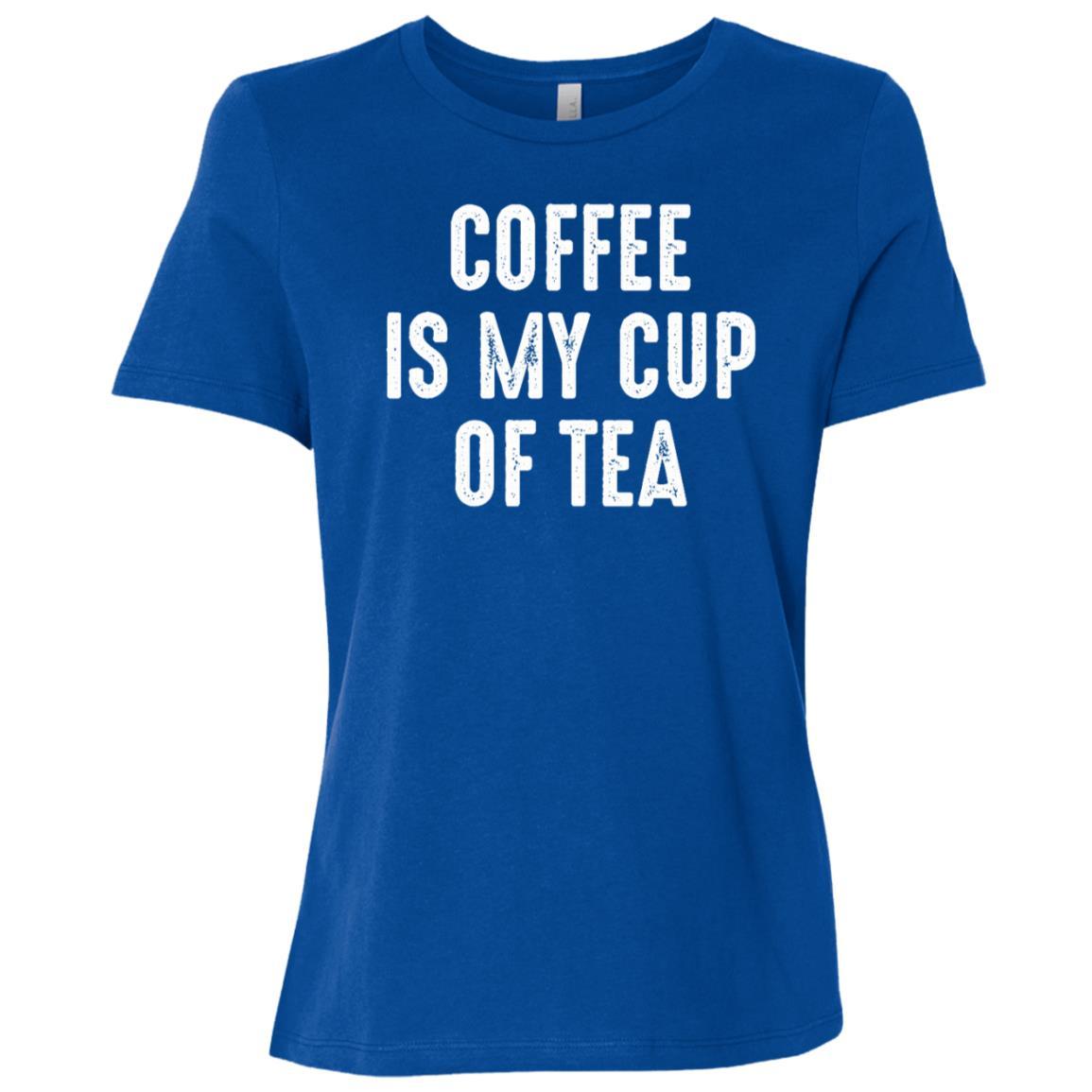 Coffee Is My Cup Of Tea Women Short Sleeve T-Shirt
