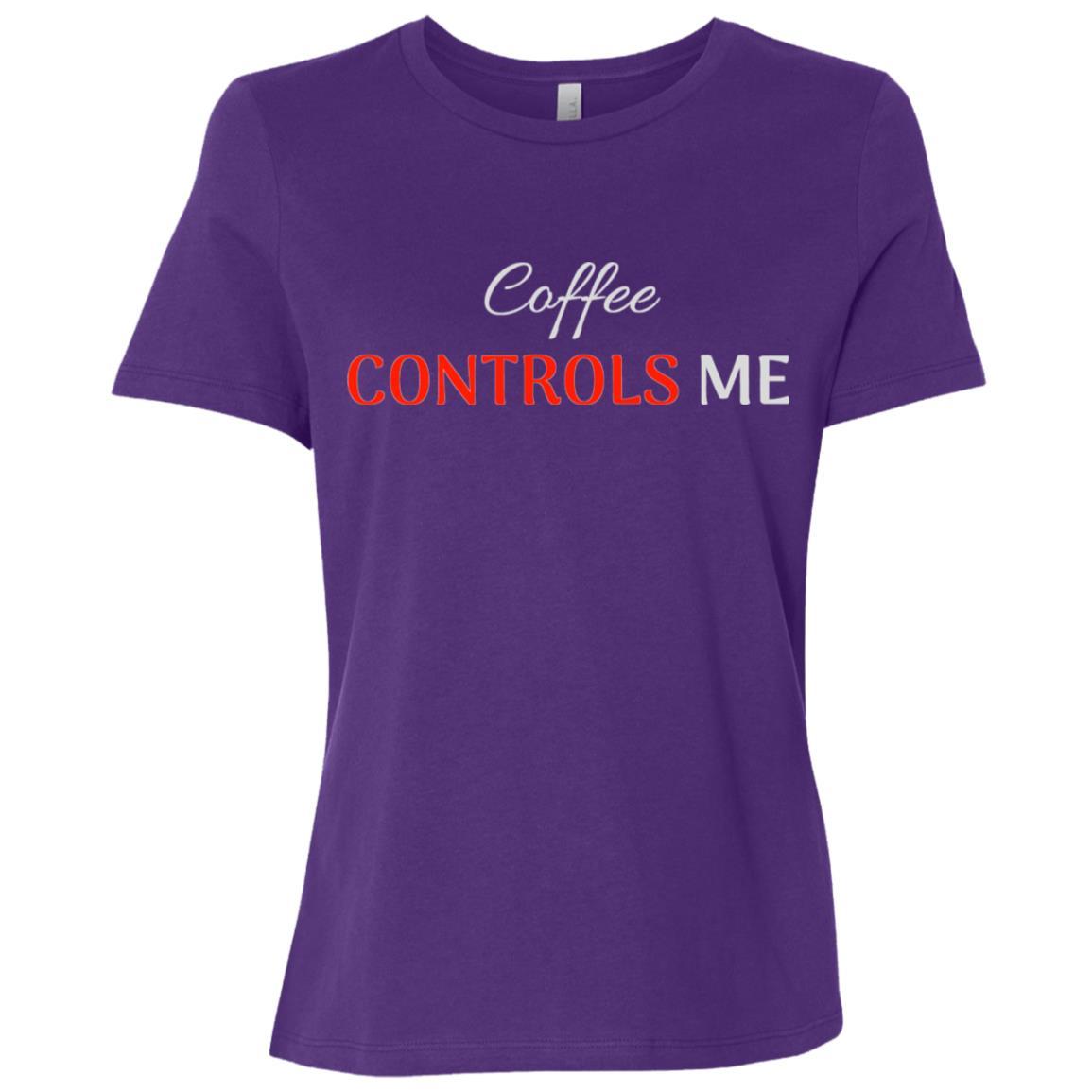 Coffee Controls Me Women Short Sleeve T-Shirt